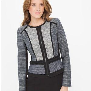 White House Black Market woman's tweed jacket